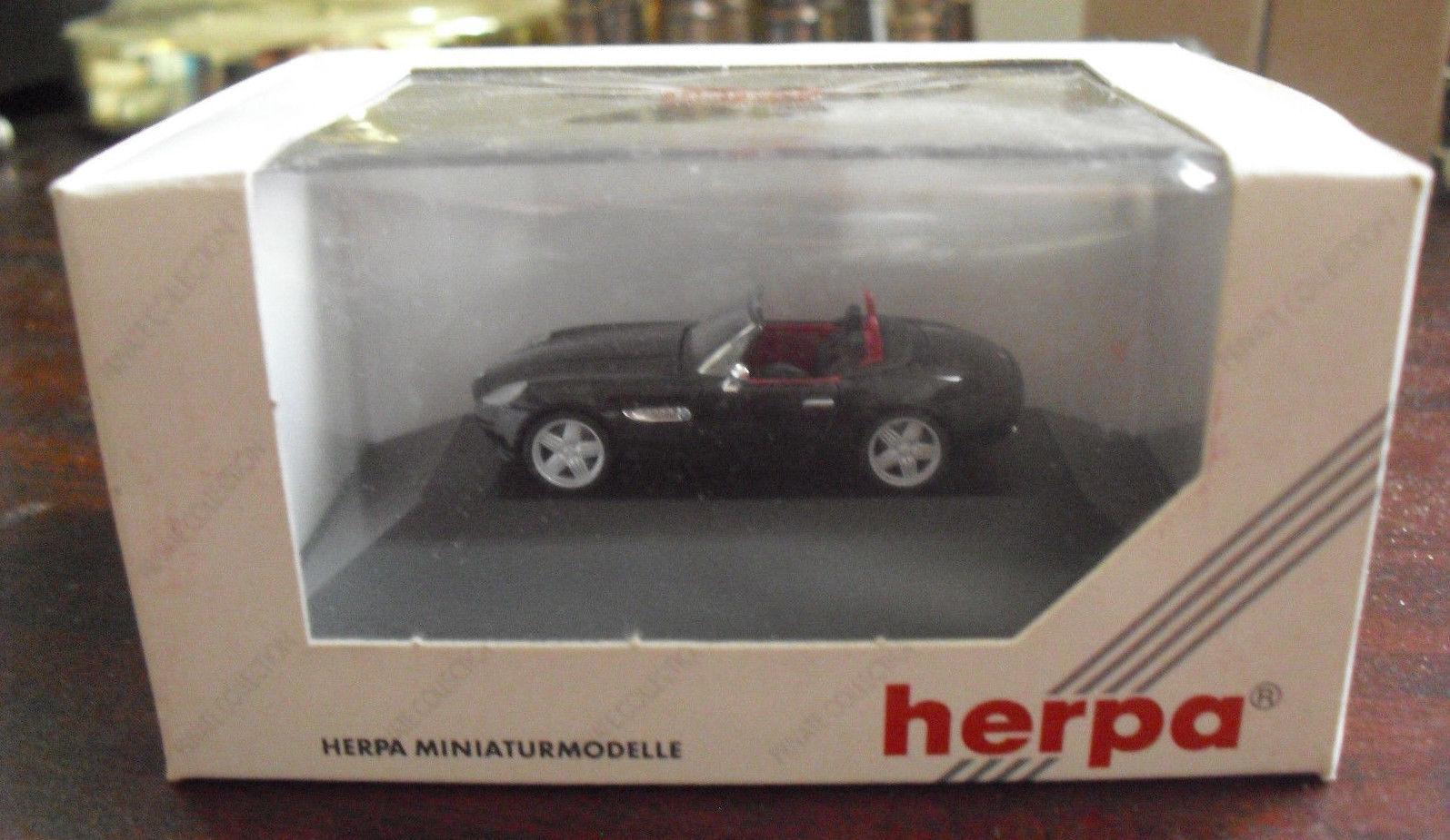 Herpa Private Collection HO 187 Black BMW Alpina Roadster V8 Car NIP 7