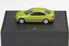 Sammlermodell 187 BMW M3 E46 phoenix Yellow Japan Limited Dealer Box_12